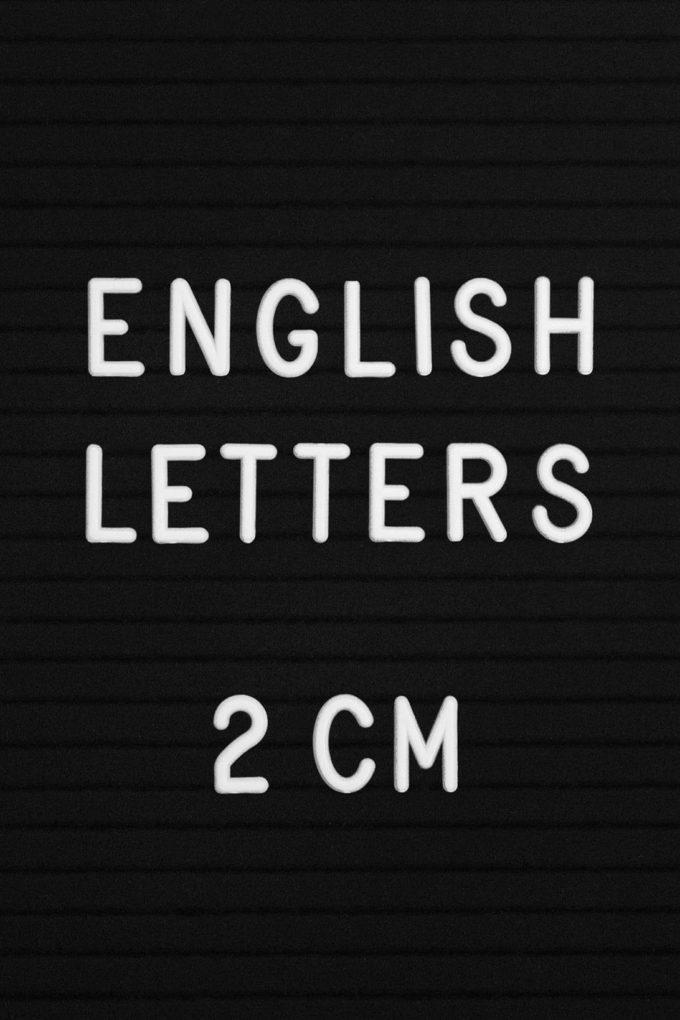 Английские буквы пластиковые для наборных досок